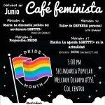 Cartelera del Café Feminista Junio