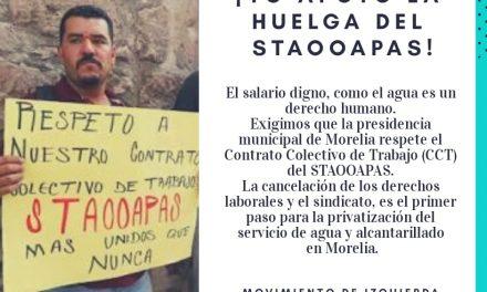 Solidaridad con la huelga de los trabajadores del OOAPAS