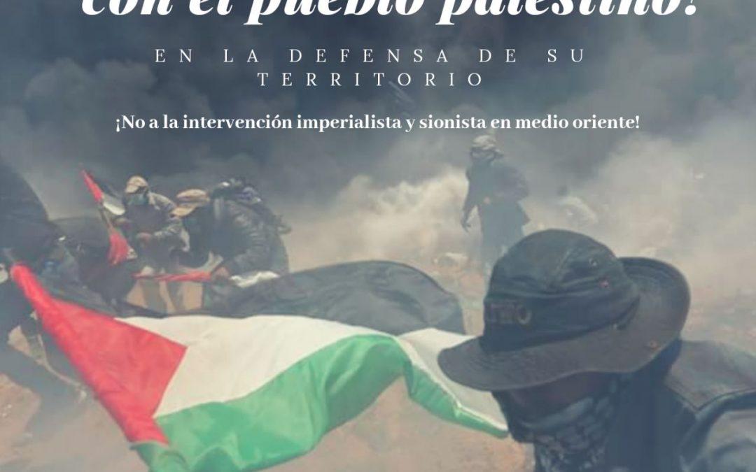 Urgente llamado para solidarizarse con Palestina