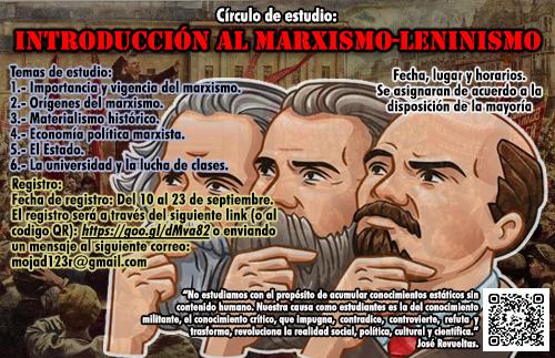 Circulo de estudio: INTRODUCCIÓN AL MARXISMO-LENINISMO