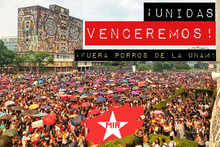 Solidaridad con los estudiantes de la UNAM