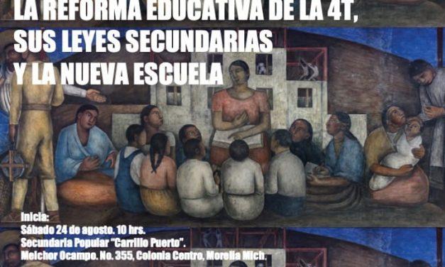 Taller análisis critico de LA REFORMA EDUCATIVA DE LA 4T