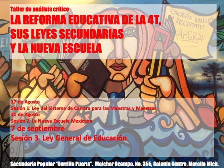 Taller: La Reforma Educativa de la 4T