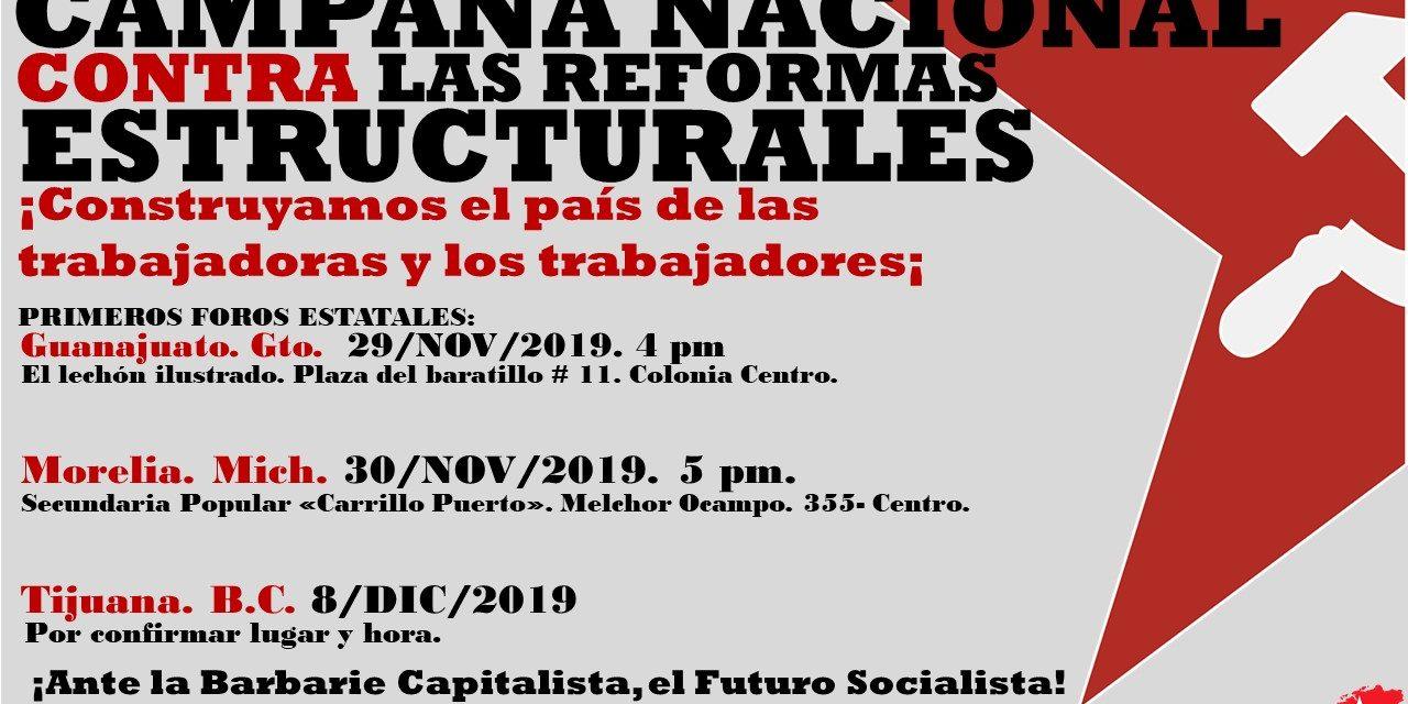 CAMPAÑA NACIONAL CONTRA LAS REFORMAS ESTRUCTURALES