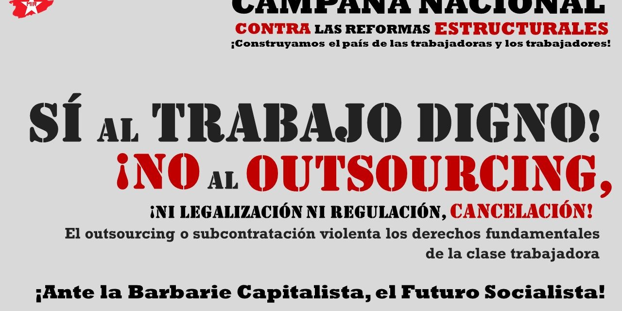 No al Outsourcing