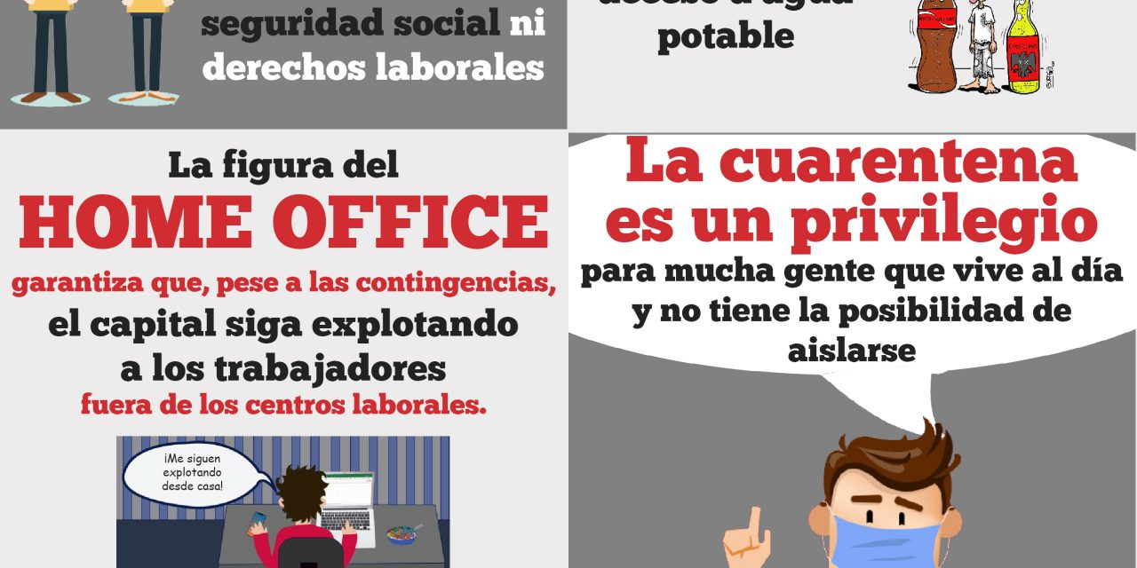 PARA LA MAYORÍA DE LA CLASE TRABAJADORA ¡LA CUARENTENA NO ES UNA OPCIÓN!