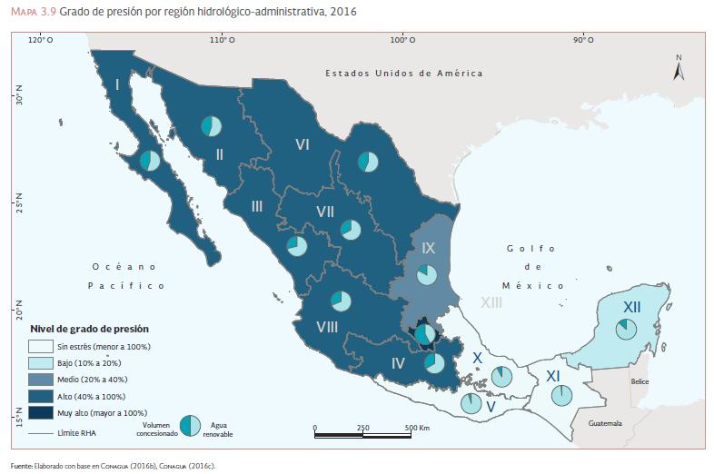 Presión hídrica en México