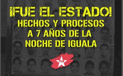 """¡FUE EL ESTADO! HECHOS Y PROCESOS A 7 AÑOS DE """"LA NOCHE DE IGUALA"""""""